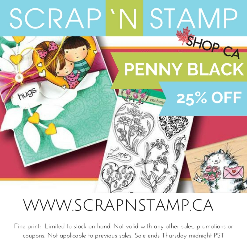 Great sale on Penny Black stamps and dies
