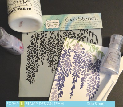 Stencil with Embossing paste
