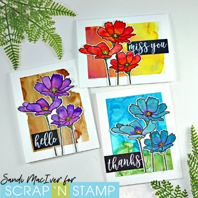Alcohol Ink Backgrounds for Scrap 'N Stamp