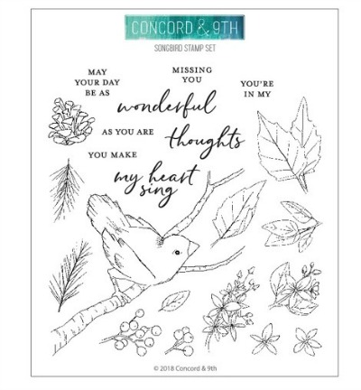 Concord and 9th Songbird stamp set