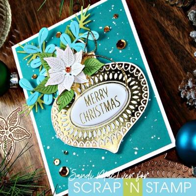 Ornament Glimmer Foil Plate