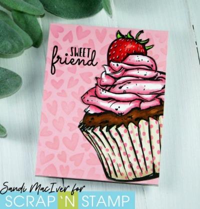 Sweet Friend Cupcake for Scrap 'N Stamp Canada