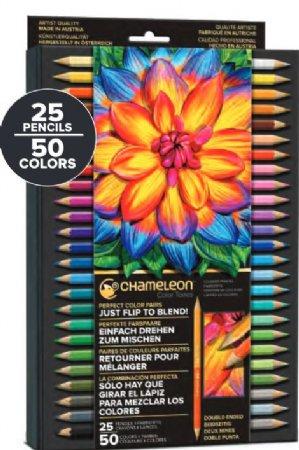 Chameleon Color Tone Pencils 25 Pencils 50 Colors