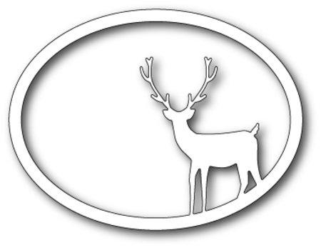 Memory Box - Die - Standing Deer Oval Frame