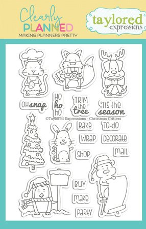 Christmas Expressions.Taylored Expressions Clearly Planned Christmas Critters
